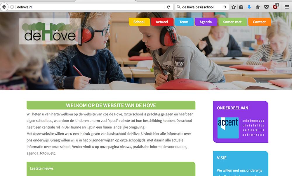 Website Basisschool De Höve